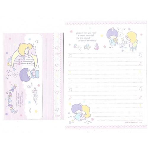 Ano 2005. Conjunto de Papel de Carta Little Twin Stars Melody Sanrio