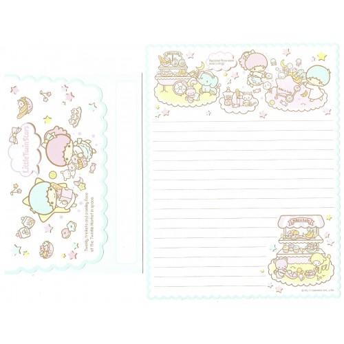 Ano 2012 Conjunto de Papel de Carta Little Twin Stars Market VD Sanrio