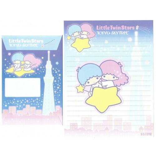 Ano 2012 Conjunto de Papel de Carta Little Twin Stars Skytree Sanrio