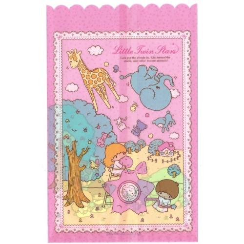 Ano 2004. Saco de Papel Little Twin Stars Animals Sanrio
