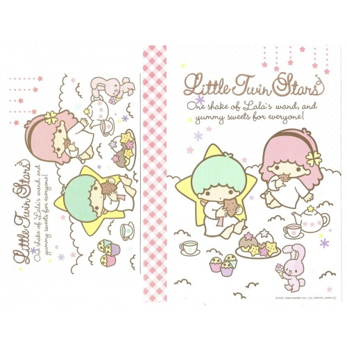 Ano 2008. Conjunto de Papel de Carta Little Twin Stars Shake2 Sanrio