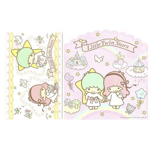 Ano 2008. Conjunto de Papel de Carta Little Twin Stars Cat1 Sanrio