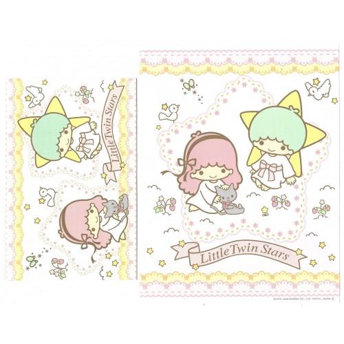 Ano 2008. Conjunto de Papel de Carta Little Twin Stars Cat2 Sanrio
