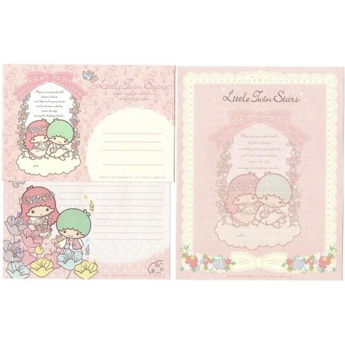 Ano 2010. Conjunto de Papel de Carta Little Twin Stars Friends1 Sanrio
