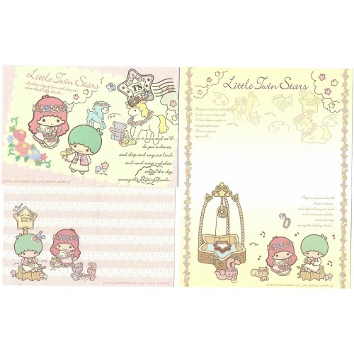 Ano 2010. Conjunto de Papel de Carta Little Twin Stars Friends2 Sanrio