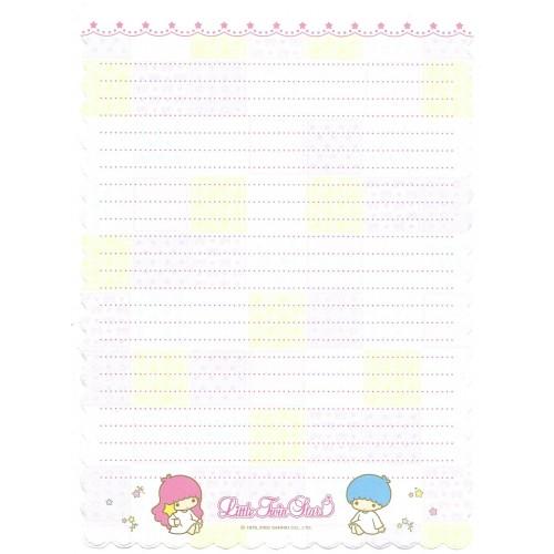 Ano 2002. Papel de Carta A4 Little Twin Stars Patchwork Sanrio