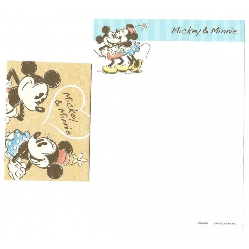 Kit 2 Conjuntos de Mini-Papel de Carta Mickey & Minnie CRS Disney