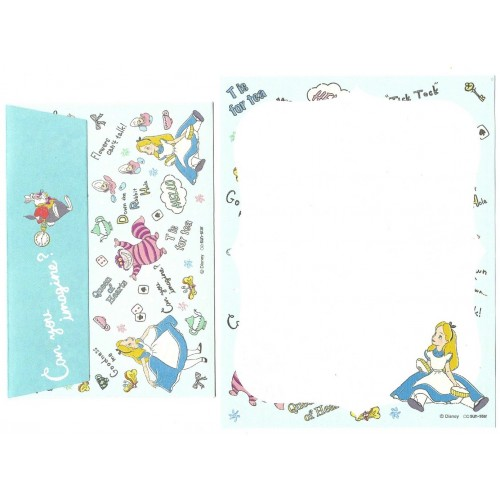 Conjunto de MINI-Papel de Carta Disney ALICE How Curious 2