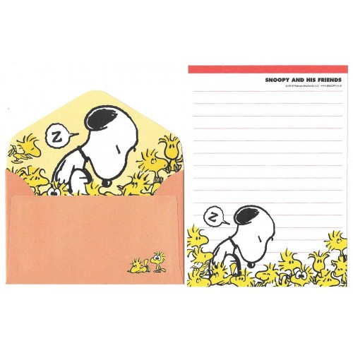 Kit 2 Conjuntos de Mini-Papel de Carta SNOOPY & His Friends 2016