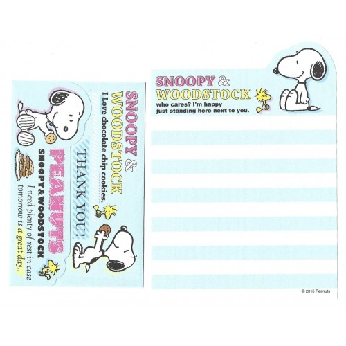 Conjunto de Mini-Papel de Carta SNOOPY & Woodstock CAZ Peanuts