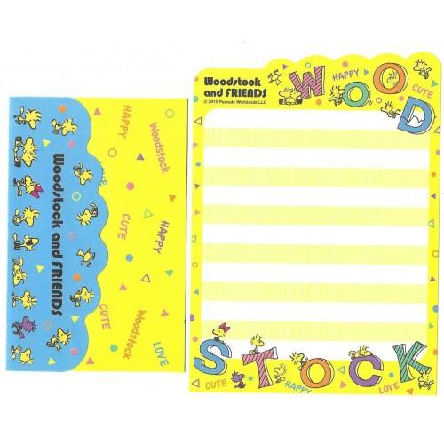 Conjunto de Mini-Papel de Carta Woodstock & Friends CAM Peanuts