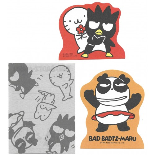 Ano 1996. Kit 3 MEMOS Bad BADTZ-MARU - Sanrio