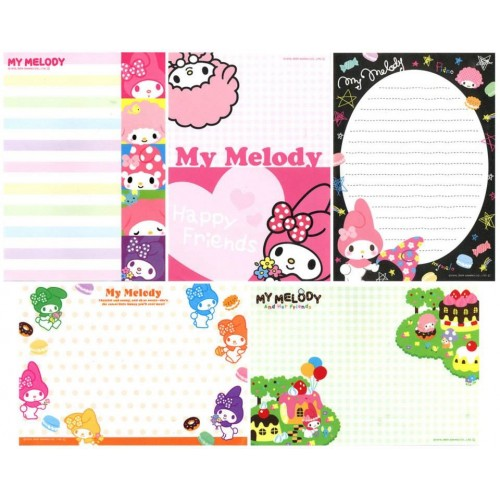 Ano 2009. Kit 5 Notas My Melody Sweet Sanrio