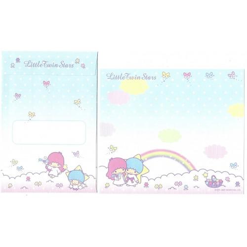 Ano 2007. Kit 4 Conjuntos Papel de Carta Little Twin Stars Sanrio