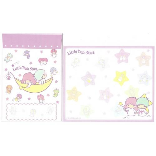 Ano 2009. Kit 4 Conjuntos Papel de Carta Little Twin Stars Sanrio