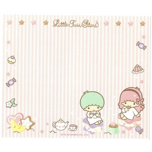Ano 2009. Kit 4 Conjuntos Papel de Carta Little Twin Stars2 Sanrio