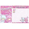 Ano 2012. Kit 4 Conjuntos de Papel de Carta Little Twin Stars Sparkles and Smiles Sanrio