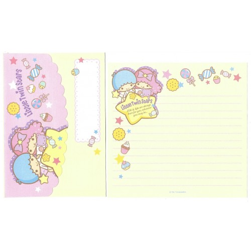 Ano 2013. Kit 3 Conjuntos Papel de Carta Little Twin Stars Sanrio