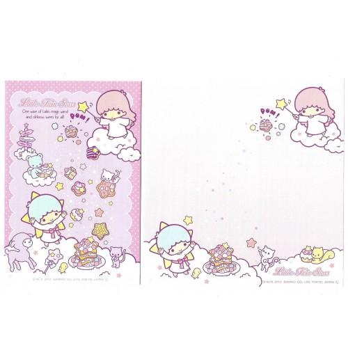 Ano 2013. Conjunto de Papel de Carta Little Twin Stars CRS6 Sanrio