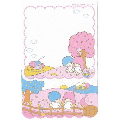 Ano 2001. Kit 2 Notas Little Twin Stars Farm Sanrio