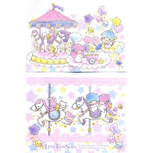 Ano 2010. Kit 2 NOTAS G Little Twin Stars Carrossel Sanrio