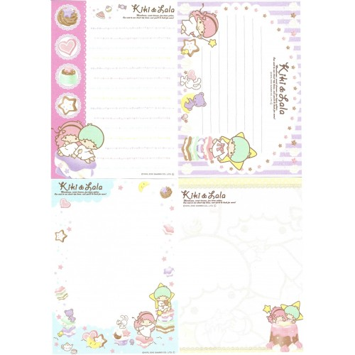 Ano 2010. Kit 4 NOTAS Little Twin Stars Sweet Dreams Sanrio