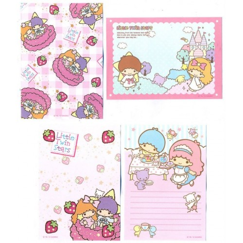 Ano 2012. Kit 8 NOTAS Little Twin Stars2 Sanrio