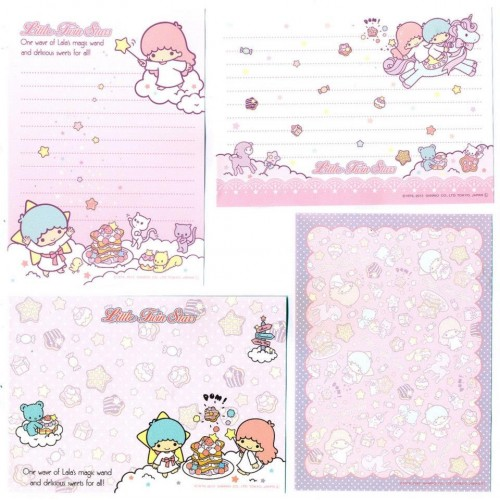Ano 2013. Kit 4 NOTAS Little Twin Stars CRS Sanrio