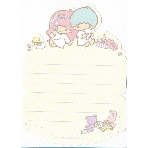 Ano 2015. Message Card Little Twin Stars Sanrio