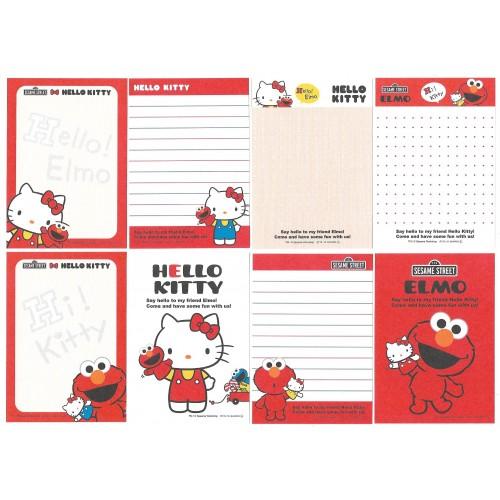 Ano 2010. Kit 8 Notas Hello Kitty & Sesame Street Sanrio