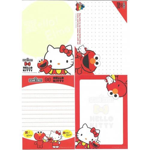 Ano 2010. Kit 4 Notas Hello Kitty & Sesame Street Sanrio