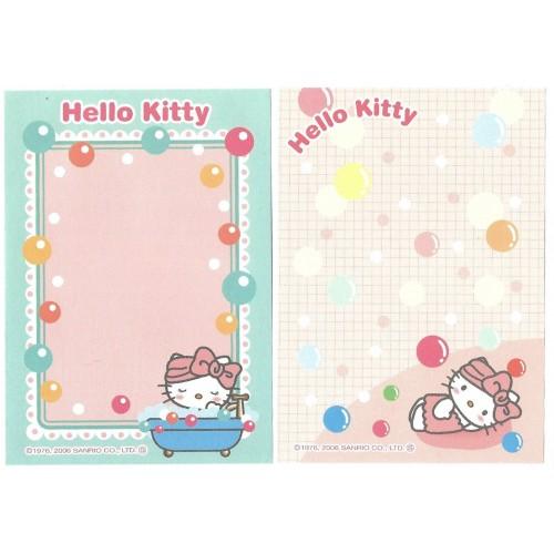 Ano 2006. Kit 2 Notas GOTOCHI Kitty Bath Sanrio