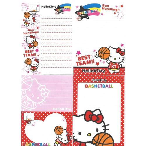 Ano 2009. Kit 4 Notas Hello Kitty Basketball Sanrio