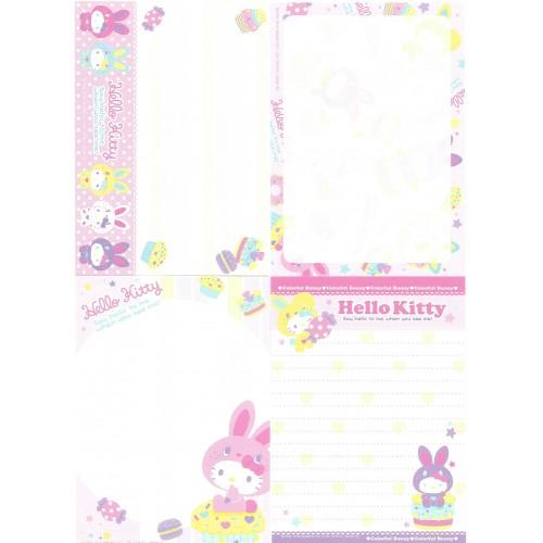 Ano 2010. Kit 4 Notas Hello Kitty Colorful Bunny2 Sanrio