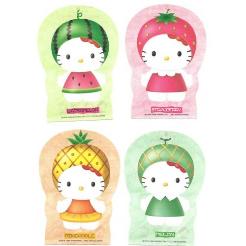 Ano 1999. Kit 4 Notas Hello Kitty Vivitix Fruits Vintage Sanrio