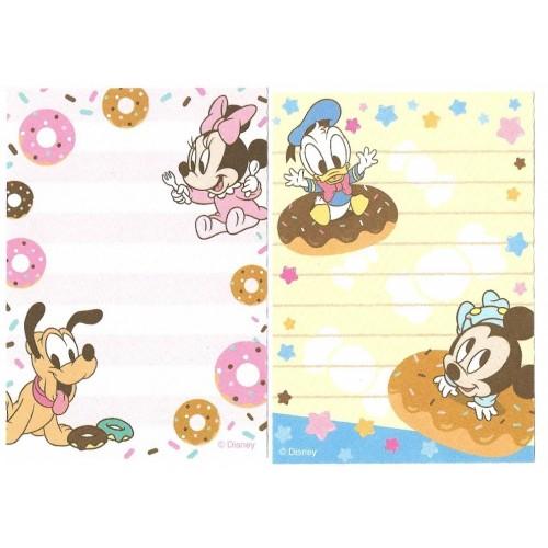 Kit 2 MEMOS Importados Baby Mickey & Friends Disney Sun-Star