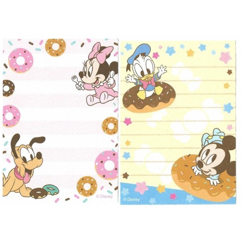 Kit 2 MEMOS Importados Baby Mickey & Friends Disney Sun-Star