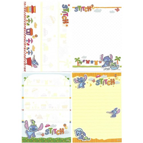 Kit 4 NOTAS Stitch Disney Sun-Star