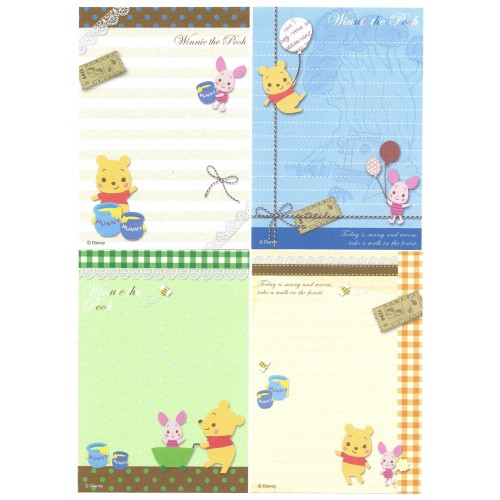 Kit 4 NOTAS Winnie The Pooh in The Forest Disney Sun-Star