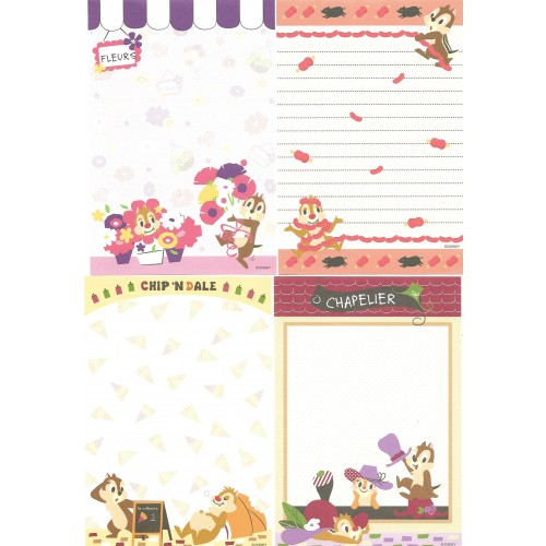 Kit 12 NOTAS Importadas Chip'n Dale We Love Clarice Disney Japan