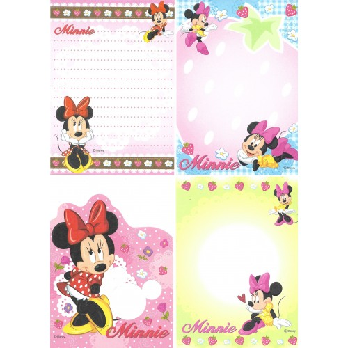 Kit 4 NOTAS Minnie Disney