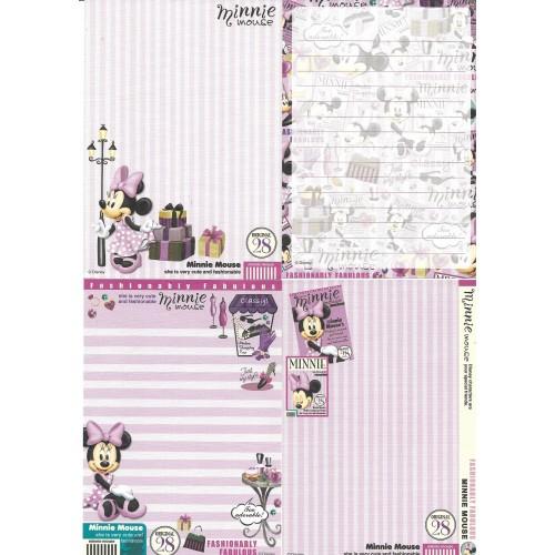 Kit 4 NOTAS Minnie Mouse Classy Disney