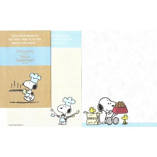 Conjunto de Papel de Carta Snoopy Cookies Peanuts LCC 2016