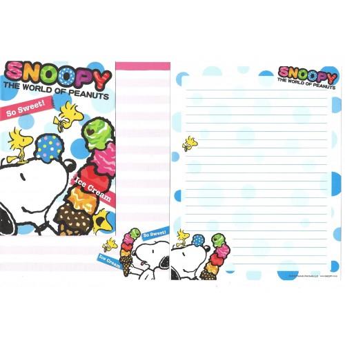 Kit 2 Conjuntos de Papel de Carta Snoopy So Sweet 2013