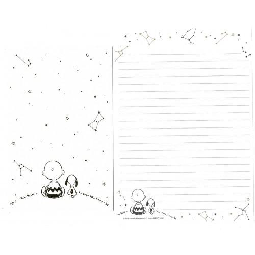 Conjunto de Papel de Carta Snoopy SKY CRE Peanuts Japão 2015