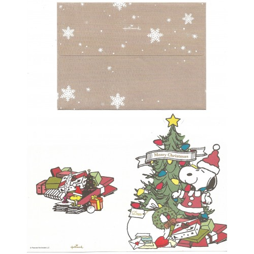 Conjunto de Papel de Carta Merry Christmas Hallmark