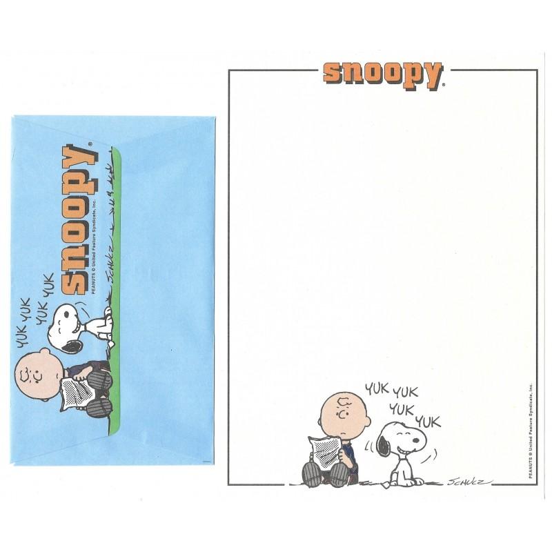 Conjunto de Papel de Carta Snoopy Yak Yak Peanuts