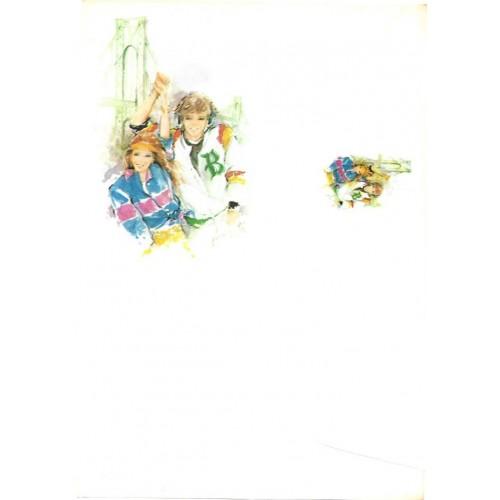Conjunto de Papel de Carta Antigo Coleção BROOKLIN 05G