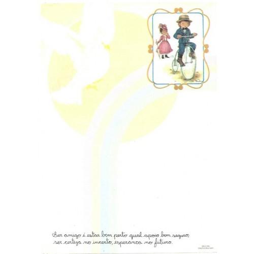 Papel de Carta Arco Iris 05