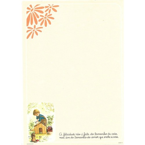 Papel de Carta July Pop A-08